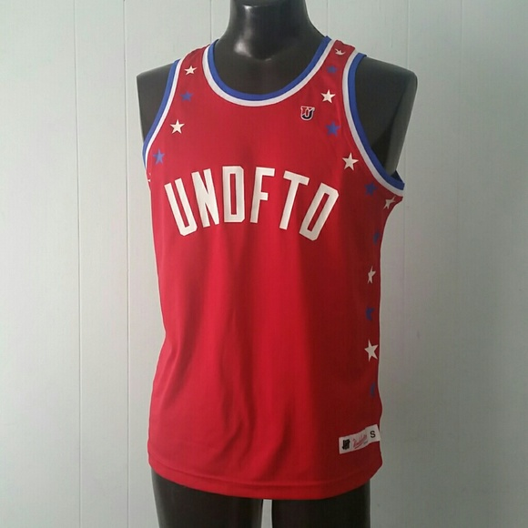 Undefeated Jersey Red Retro Style Skate Urban #5